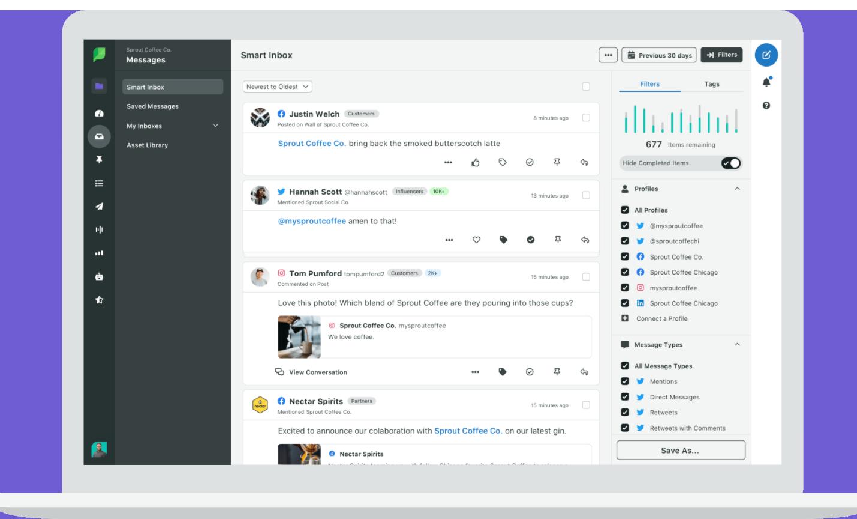 Screenshot Community Management Software von SproutSocial